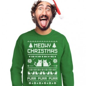 """A Meowy Christmas"" Men's Sweatshirt"