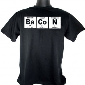 """BaCoN"" Periodic Table Black T-shirt"