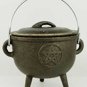 Cast Iron Pentagram Cauldron