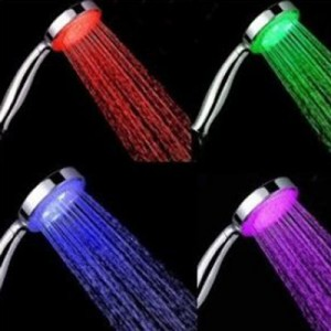 Color LED Lights Shower Head