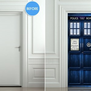Doctor Who Tardis Door Sticker
