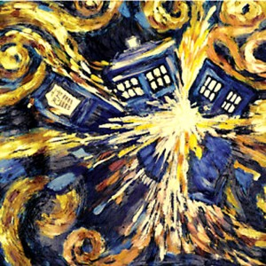 Doctor Who - Van Gogh's Exploding Tardis Poster
