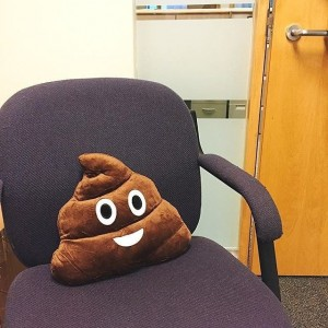 Emoji Poop Shaped Pillow