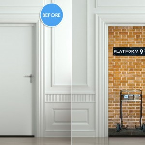 Harry Potter Platform 9 3/4 Door Sticker