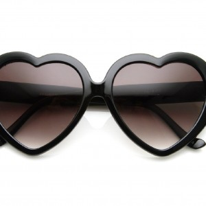 Large Heart Shaped Sunglasses