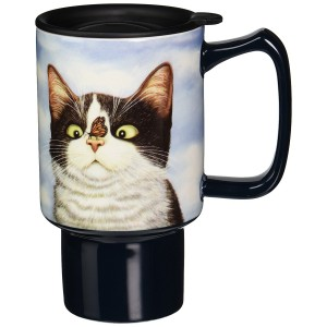 "Lowell Herrero's ""Hugo Hege"" Cat Travel Mug"
