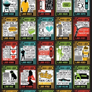 Man Cave Laws Poster
