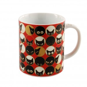 Miya Cat Eyes Red Mug