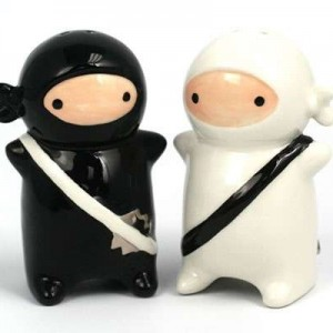 Ninja Kids Salt & Pepper Shaker Set