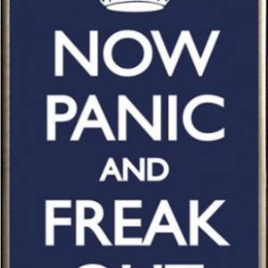 Now Panic and Freak Out Poster Framed