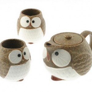 Owl Ceramic Tea Set