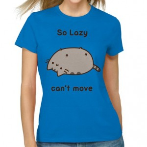 "Pusheen T-shirt ""So lazy"""