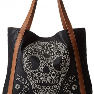 Skull Embroidered Shoulder Bag