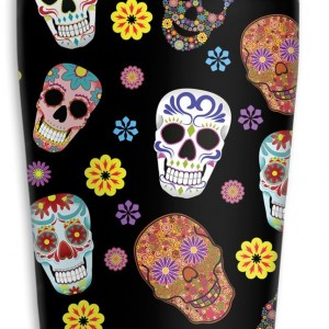 Sugar Skull 16-Ounce Travel Mug