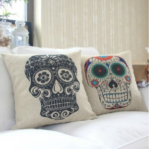 Sugar Skull Throw Pillow Cases