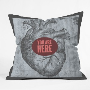 You Are Here Heart Pillow