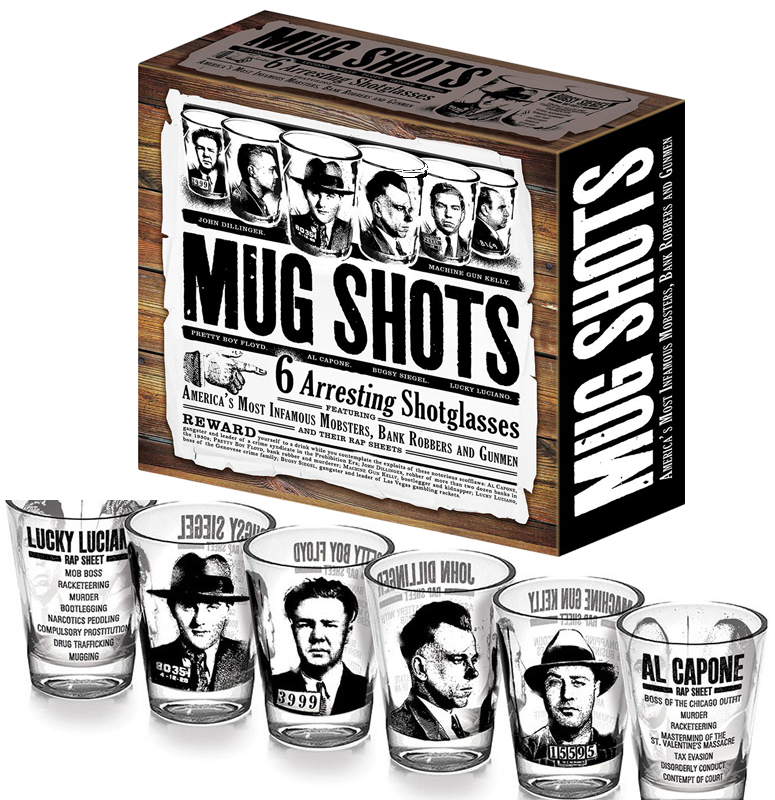 6 Mug Shots - Infamous Mobsters