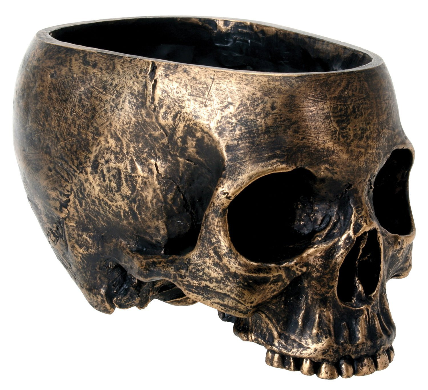 Bronze Skull Candy Bowl