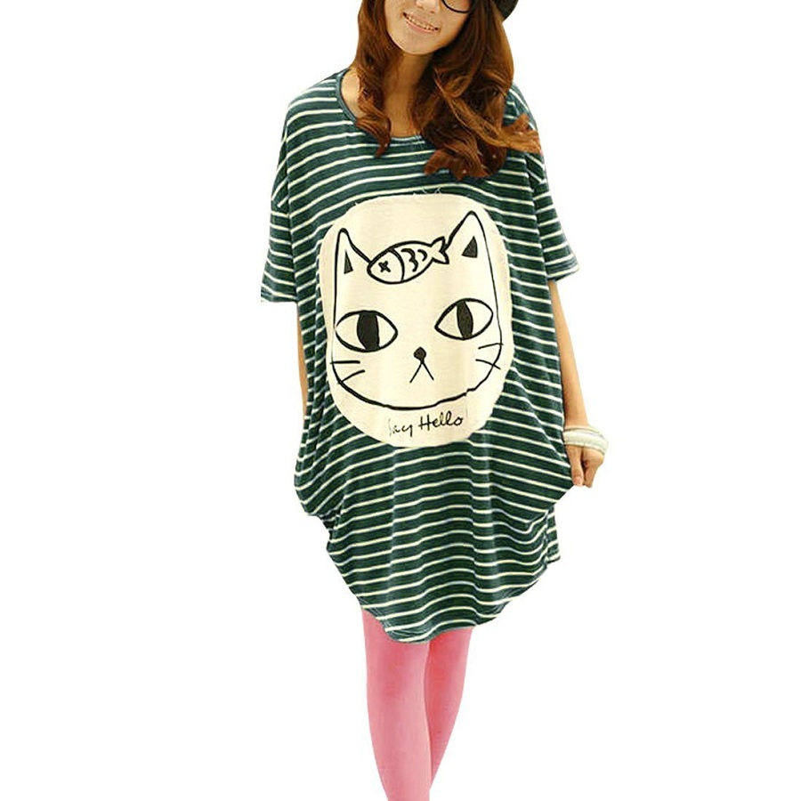 Cartoon Cat Tunic Shirt