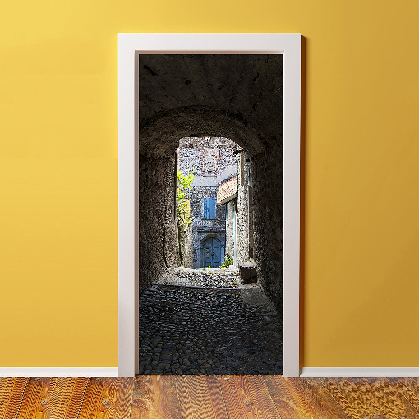 Cobblestone Pathway Glossy Mural 36x80in