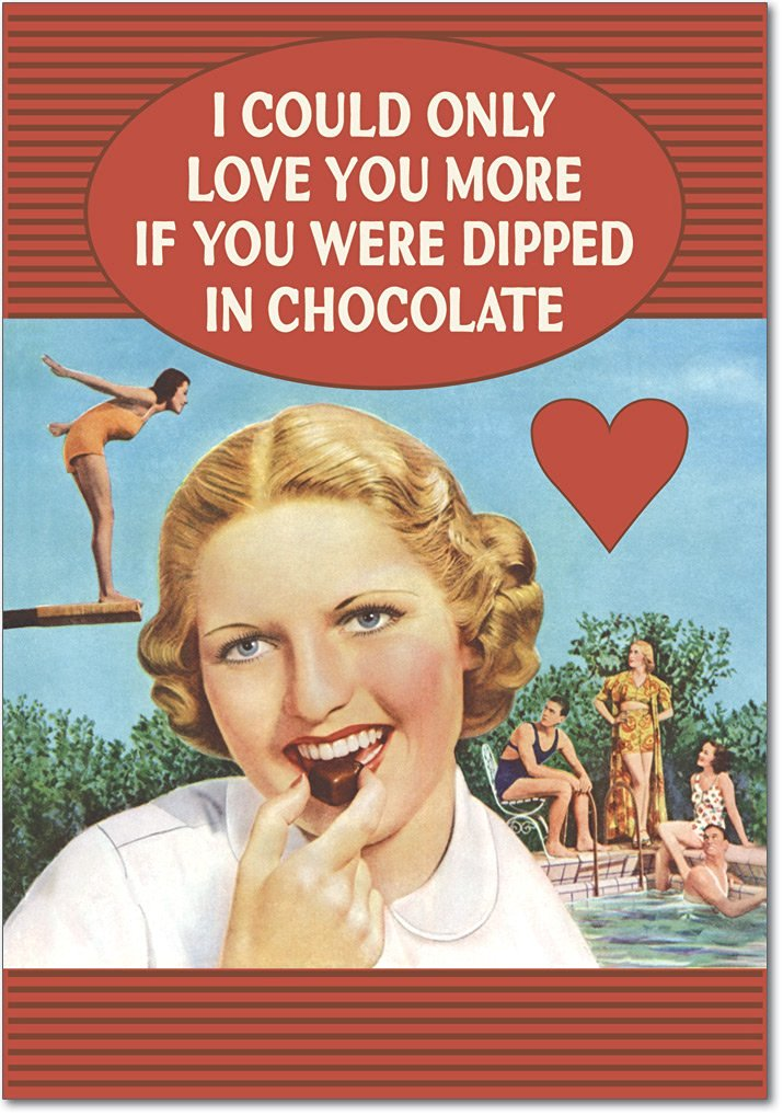 """Dipped in Chocolate"" Valentine's Card"