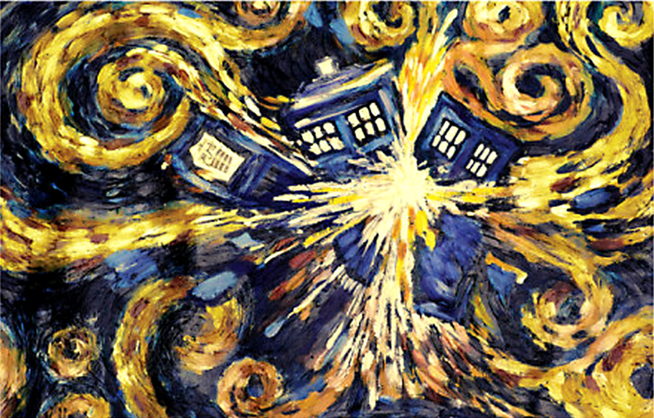 doctor who van goghs exploding tardis poster gift search