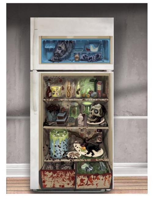 Horror Refrigerator Door Cover