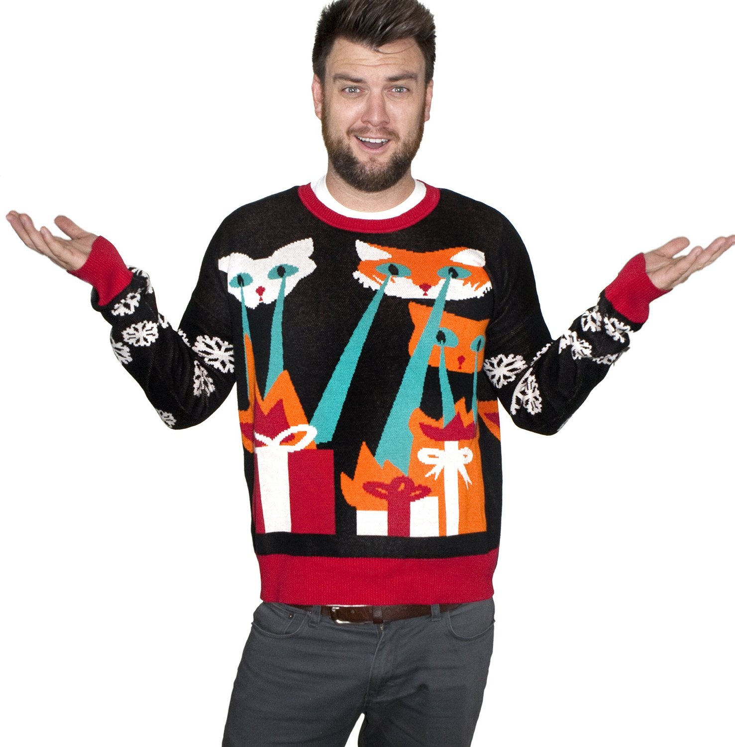 4c38302b21100 Gift Search | Laser Cat-Zillas Ugly Christmas Sweater