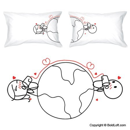 """Love Knows No Distance"" Pillowcases"