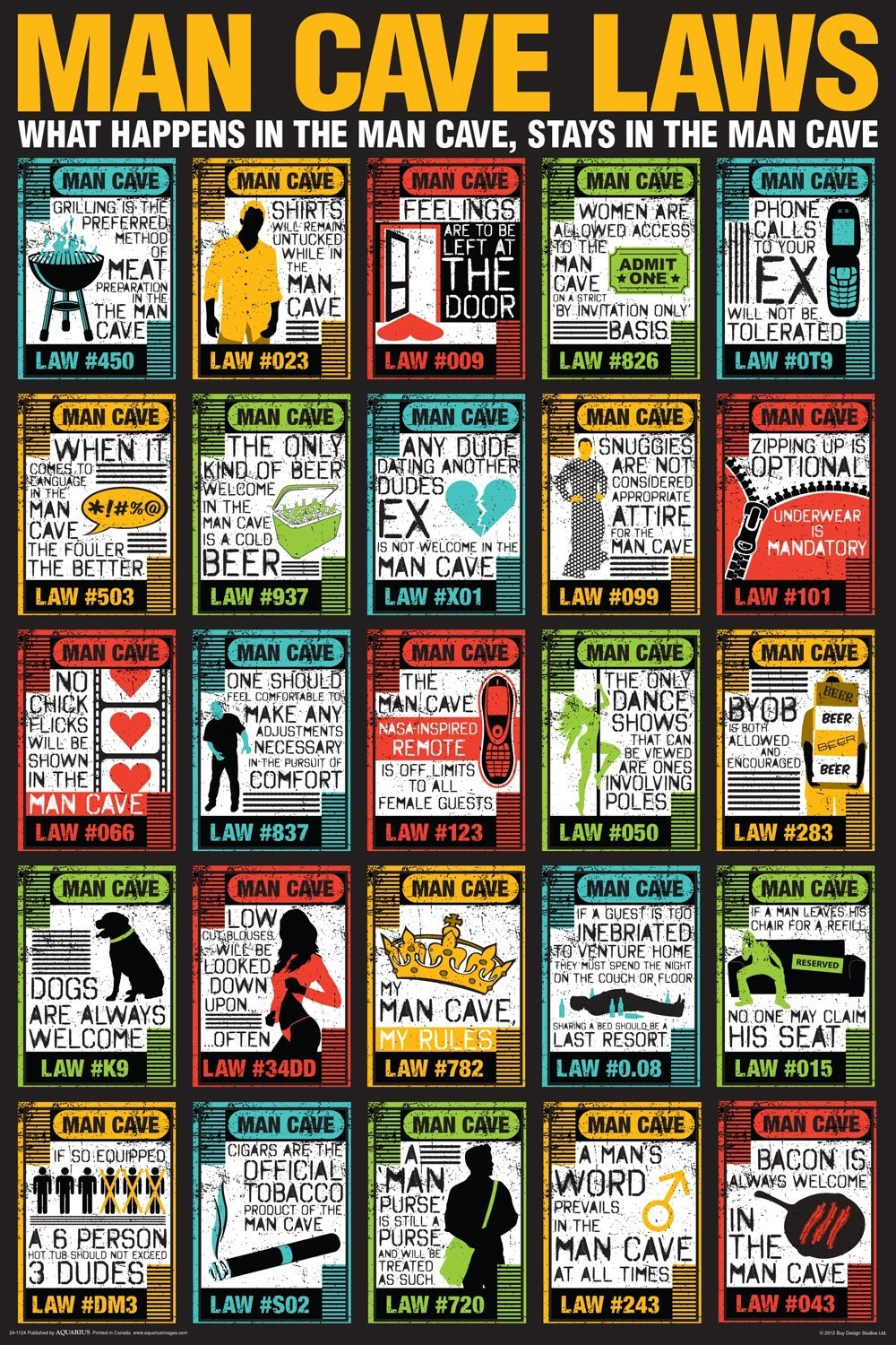 Man Cave Items To Buy : Man cave laws poster gift search