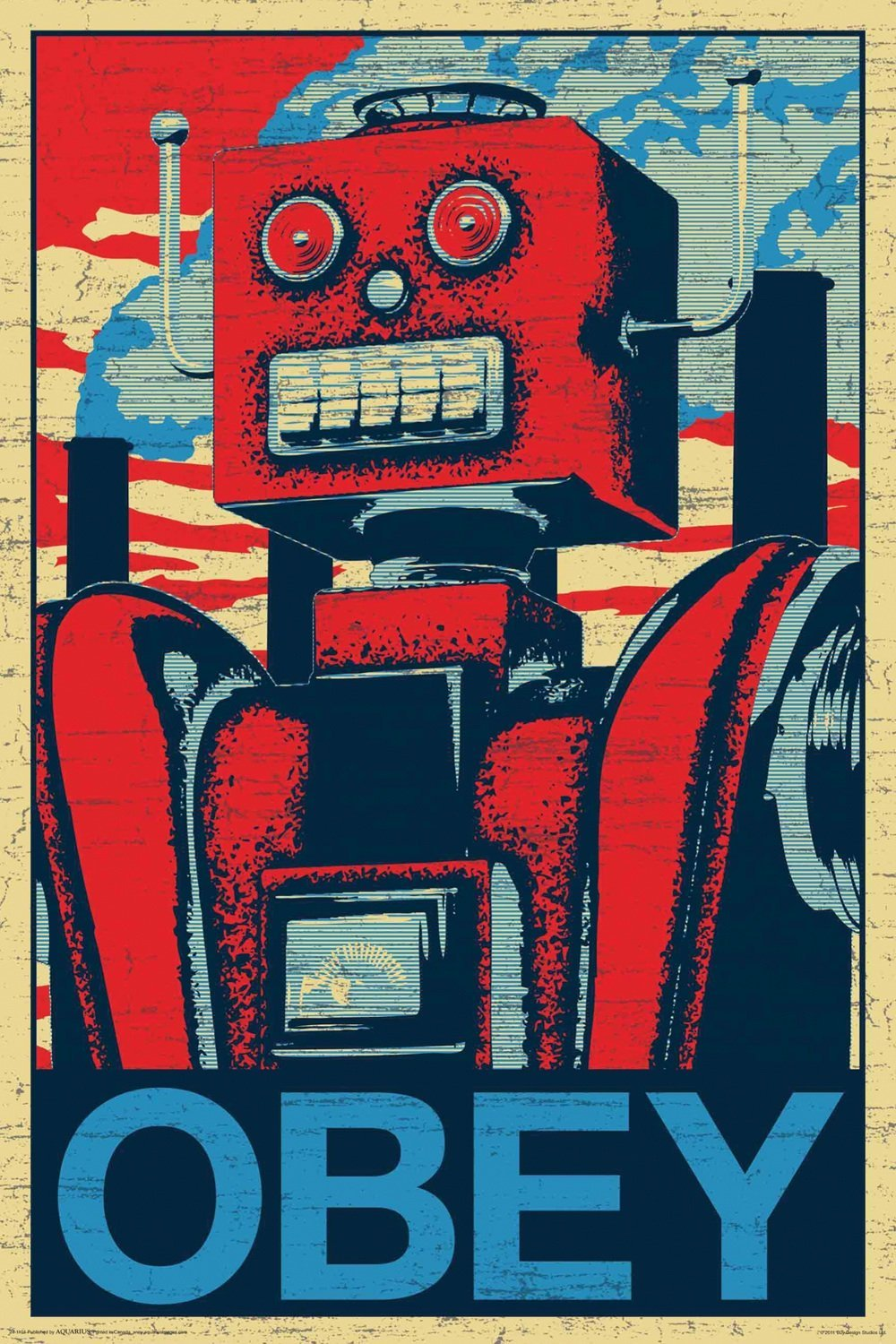 "Robot Poster ""OBEY"""