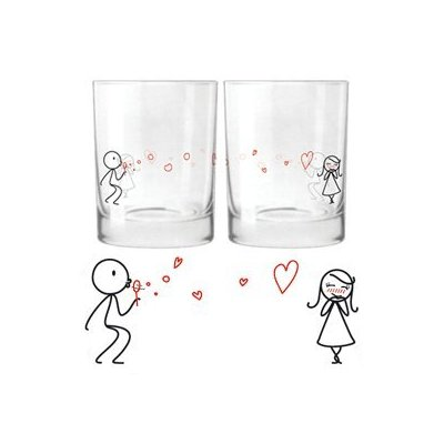 Romantic Double Drinking Glasses