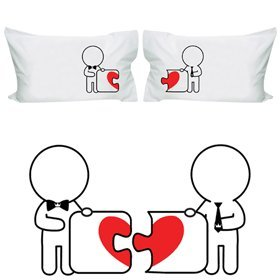 Romantic Gay Couple Pillowcases