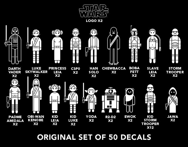 Star wars car decals stickers