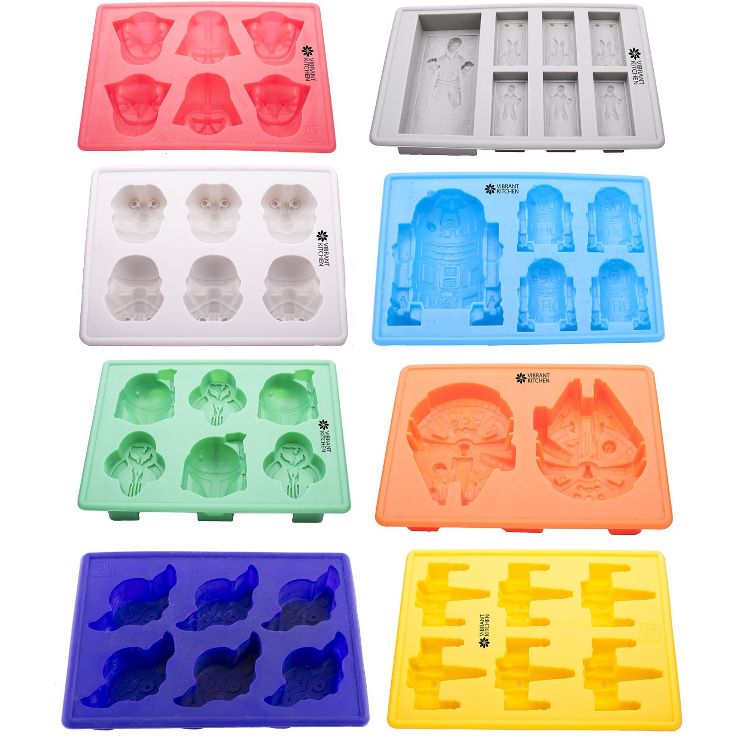 Star Wars Set of 8 Ice Cube Trays/Silicone Molds
