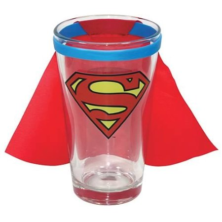 Superman Caped Logo Glass