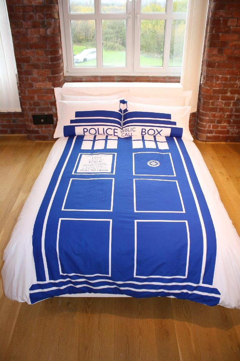 Tardis Double Duvet Cover Set