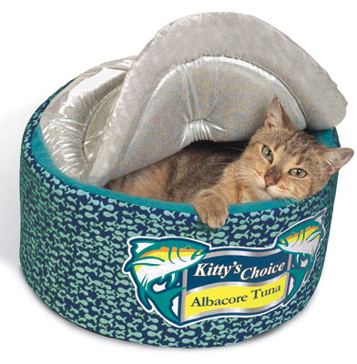 Tuna can cat bed gift search for Is tuna fish good for cats