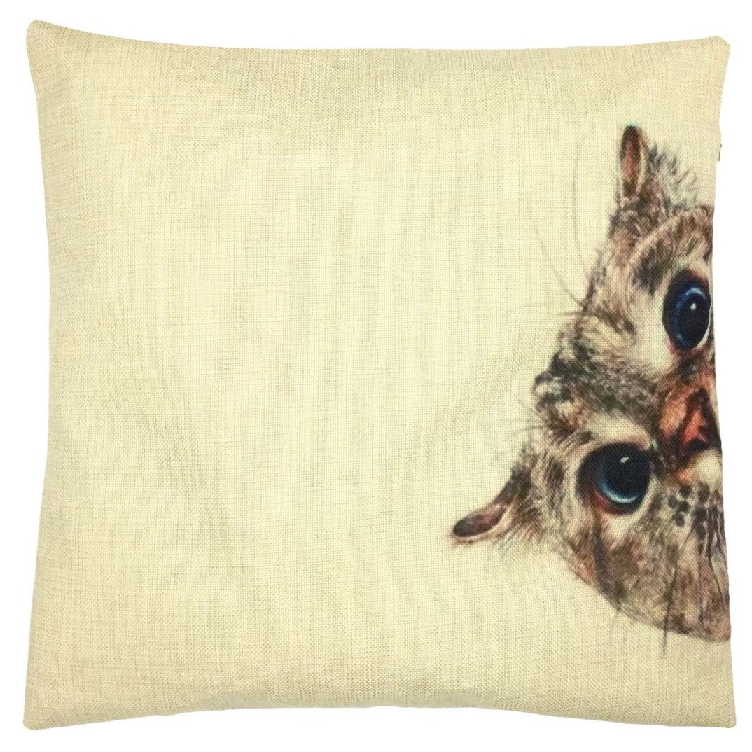 """What are you doing?"" Cat Pillowcase 18x18in"