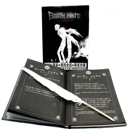 Death Note Notebook With Feather Pen